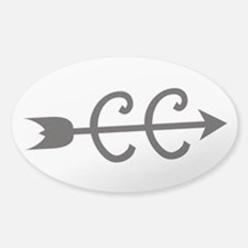 cross country symbol Decal