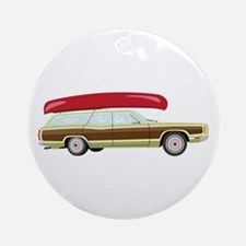 Station Wagon and Canoe Ornament (Round)