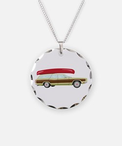 Station Wagon and Canoe Necklace