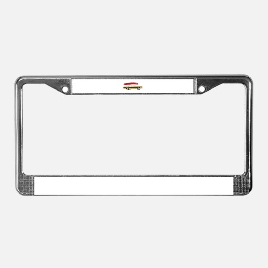 Station Wagon and Canoe License Plate Frame