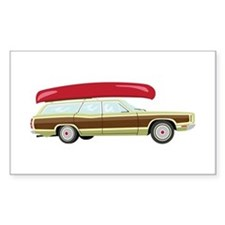 Station Wagon and Canoe Decal