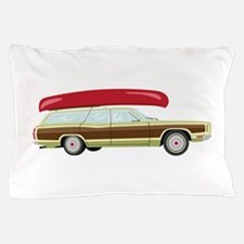 Station Wagon and Canoe Pillow Case