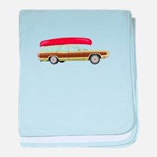 Station Wagon and Canoe baby blanket