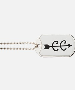 cross country symbol Dog Tags