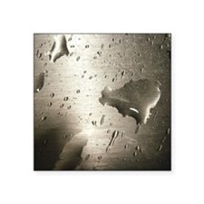 """Stainless Drops Square Sticker 3"""" x 3"""""""