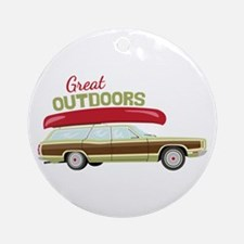 Great Outdoors Ornament (Round)