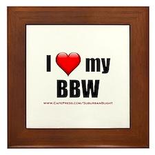 """""""Love My BBW"""" Framed Tile"""