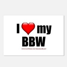 """Love My BBW"" Postcards (Package of 8)"