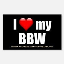 """Love My BBW"" Decal"