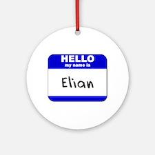 hello my name is elian  Ornament (Round)