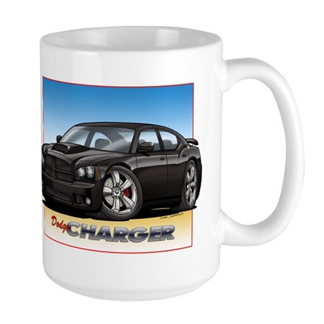 Black Dodge Charger Mugs
