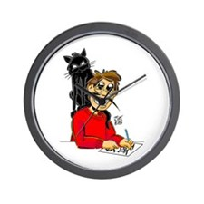 """""""THAT CAT-ON-THE-BACK GUY"""" Wall Clock"""