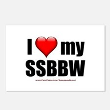 """Love My SSBBW"" Postcards (Package of 8)"
