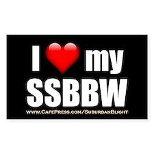 """Love My SSBBW"" Decal"