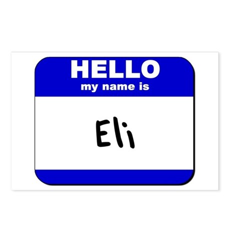 hello my name is eli Postcards (Package of 8)