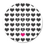You are the one - Valentines day Round Car Magnet