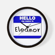 hello my name is eleanor  Wall Clock