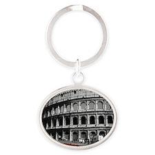 Rome Oval Keychain