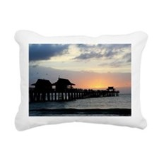 Pier Silhouette  Rectangular Canvas Pillow