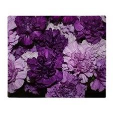 Purple Carnations Flower Arrangement Throw Blanket
