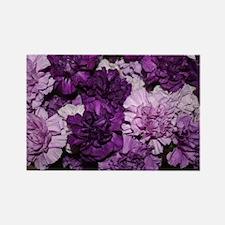 Purple Carnations Flower Arrangem Rectangle Magnet