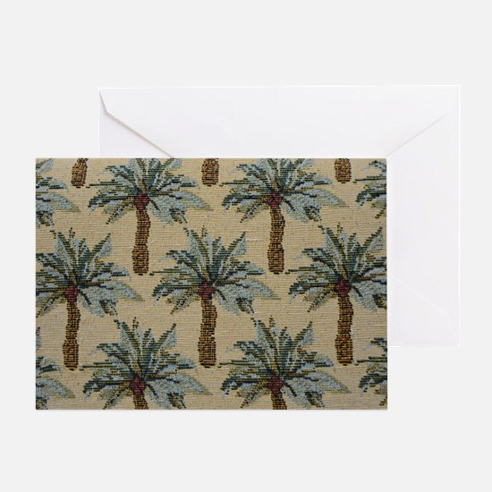 Palm Trees Fabric Pattern Greeting Card