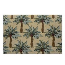 Palm Trees Fabric Pattern Postcards (Package of 8)