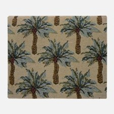 Palm Trees Fabric Pattern Throw Blanket