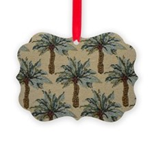 Palm Trees Fabric Pattern Ornament