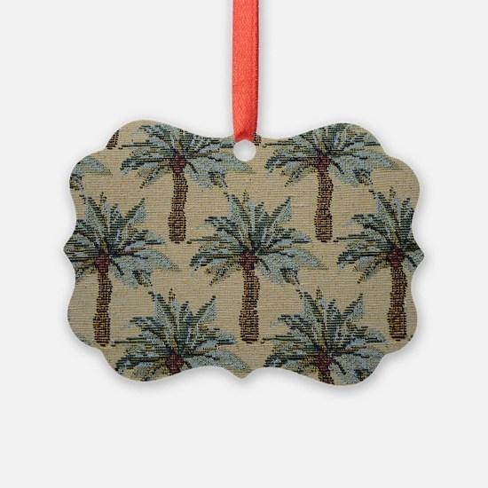 Palm Trees Fabric Pattern Ornament