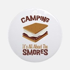 Camping: Its All About the Smores Ornament (Round)