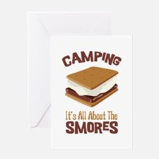 Camping: Its All About the Smores Greeting Cards