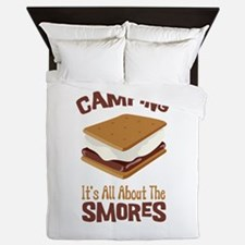 Camping: Its All About the Smores Queen Duvet