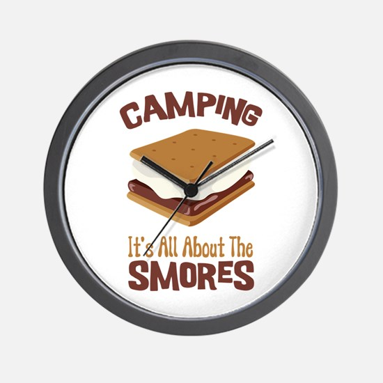Camping: Its All About the Smores Wall Clock