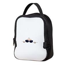 Sunglasses Baby Peeking Neoprene Lunch Bag