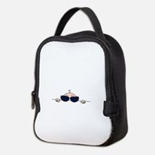 Sunglasses Baby Peeking Neoprene Lunch Bag