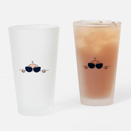 Sunglasses Baby Peeking Drinking Glass