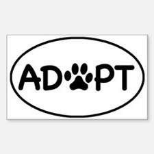 Adopt White Oval Oval Bumper Stickers