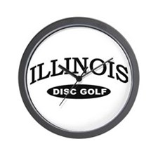 Illinois Disc Golf Wall Clock