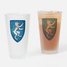 Lion Rampant Sinister Drinking Glass