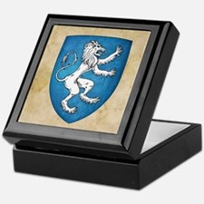 Lion Rampant Sinister Keepsake Box