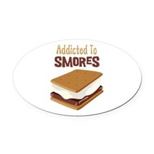 Addicted to Smores Oval Car Magnet