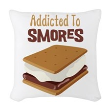 Addicted to Smores Woven Throw Pillow