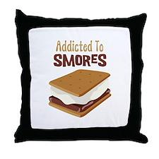 Addicted to Smores Throw Pillow