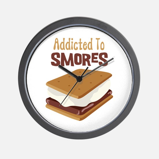 Addicted to Smores Wall Clock