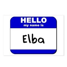 hello my name is elba  Postcards (Package of 8)