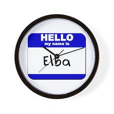 hello my name is elba  Wall Clock