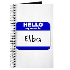 hello my name is elba Journal