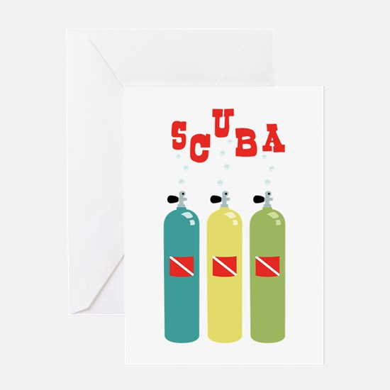 scuba Greeting Cards