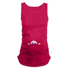PEEK-A-BOO BABY (Blue Eyes) Maternity Tank Top